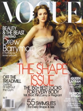 Drew Barrymore on the Cover of Vogue, April 2005: Fashion is deeply connected to Art