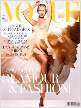 German Vogue, April 2007. Karolina Kurkova in Versace photographed by Alexi Lubomirski