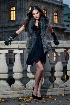 a dress designed by me - Photography: Tom Binder; Makeup: Marion Pail; Styling: R.Schermann; Model: Katja Wagner