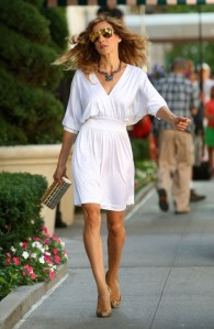 Carrie Bradshaw in an amazing opening dress