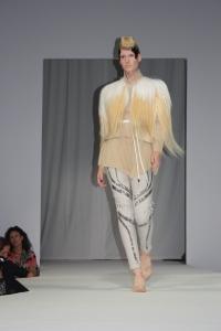 waistcoat with fur shoulders