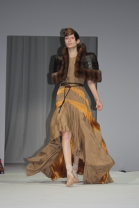 material mix - fur meets silk