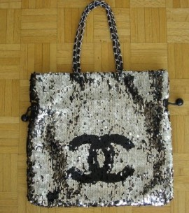 sequined Chanel Shopper