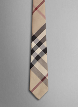 Burberry Check Silk Tie