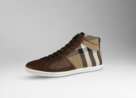 Burberry House Check High-Top Trainers Side